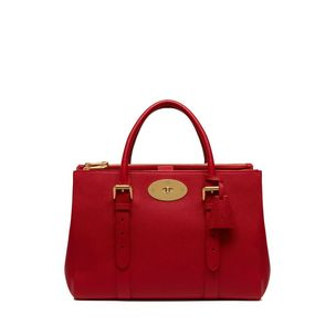 bayswater-double-zip-tote-scarlet-small-classic-grain