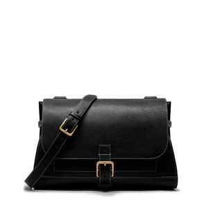 a4fc6878ec Small Chiltern Satchel. Black Natural Grain Leather