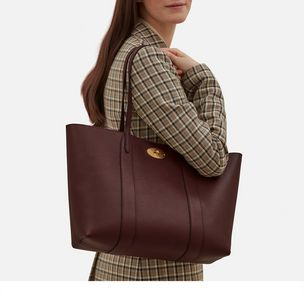 Bayswater Tote. Burgundy Small Classic Grain 684dbfa8be725