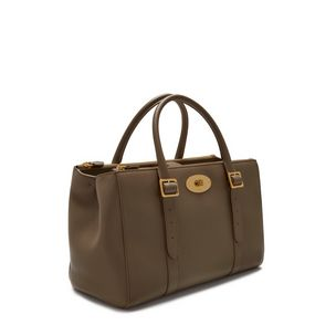 bayswater-double-zip-tote-clay-small-classic-grain