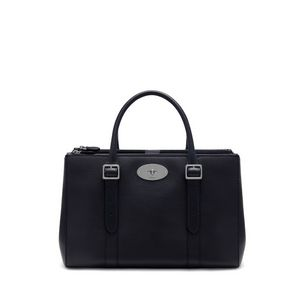 bayswater-double-zip-tote-midnight-small-classic-grain