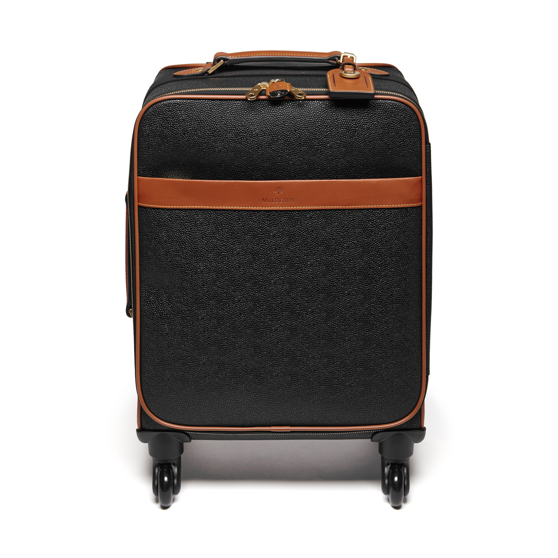 bbf708a349d Four Wheel Trolley | Black & Cognac Scotchgrain | Women | Mulberry
