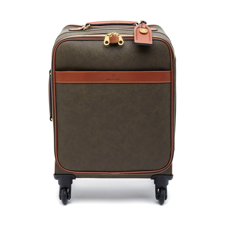 90aa77b5872 Four Wheel Trolley | Mole & Cognac Scotchgrain | Travel Edit | Mulberry