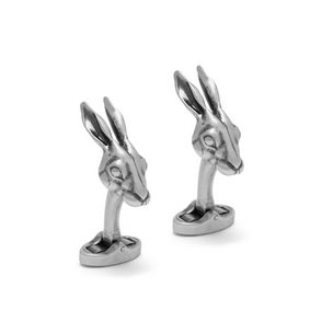 rabbit-cufflinks-antique-silver-metal