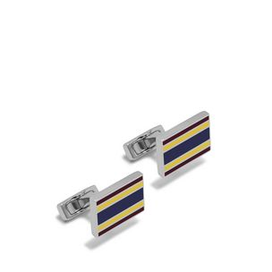 rectangular-college-stripe-cufflinks-burgundy-lemon-midnight-enamel-coated-brass
