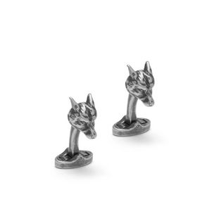 fox-cufflinks-antique-silver-metal