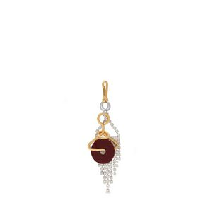 disc-charm-burgundy-brass-silver-metal