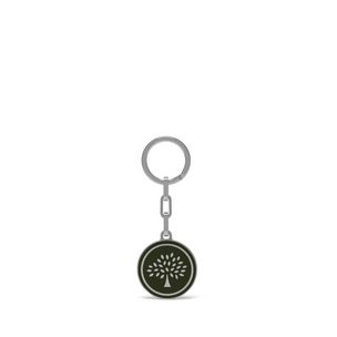 round-tree-keyring-racing-green-metal