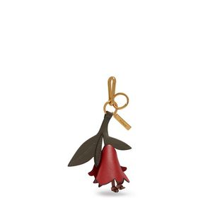 lily-flower-keyring-rust-dark-clay-blush-smooth-calf