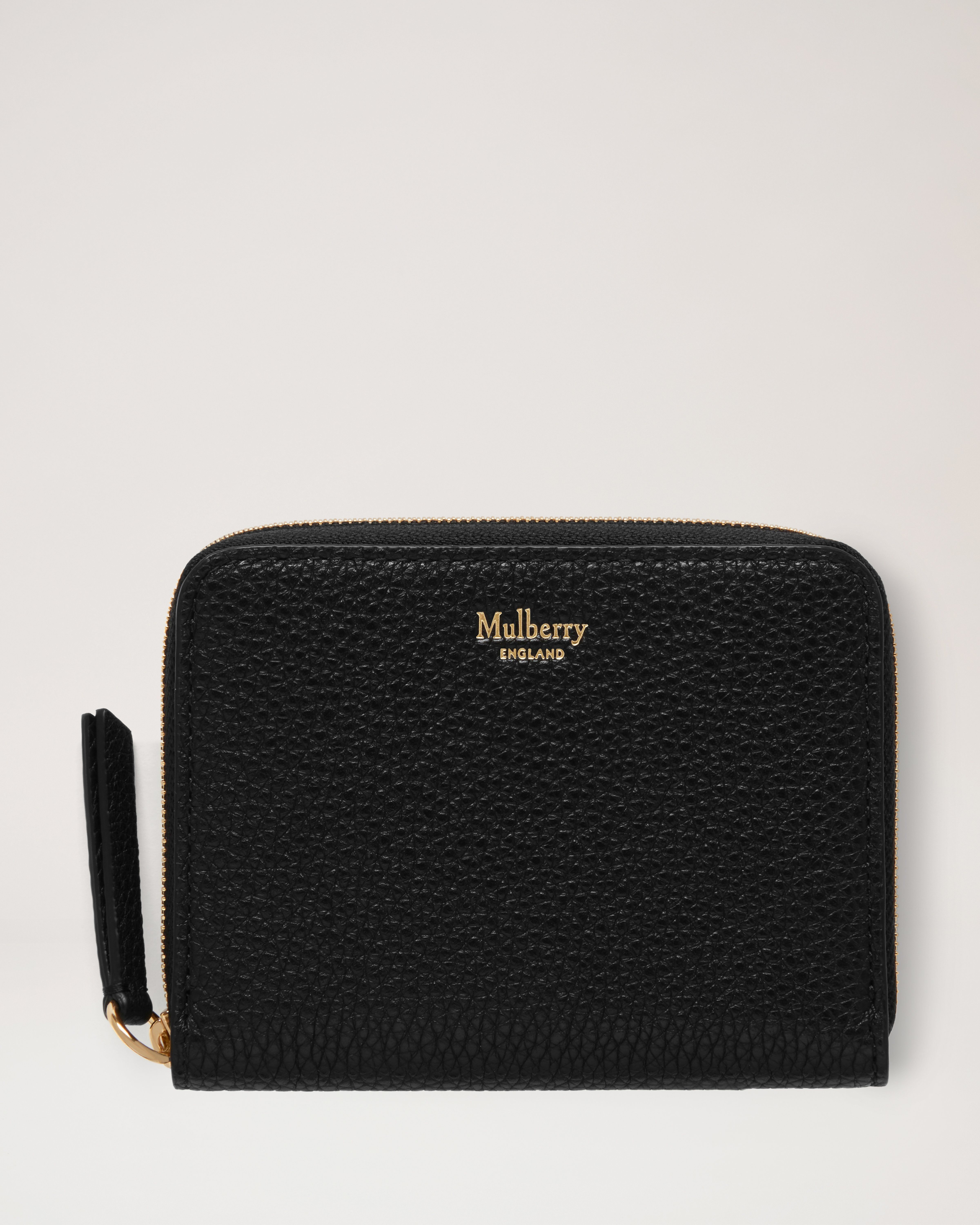 4f6ca27c06 Small Zip Around Purse | Black Small Classic Grain | Women | Mulberry