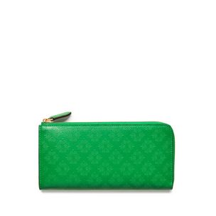 long-part-zip-wallet-grass-green-debossed-tree