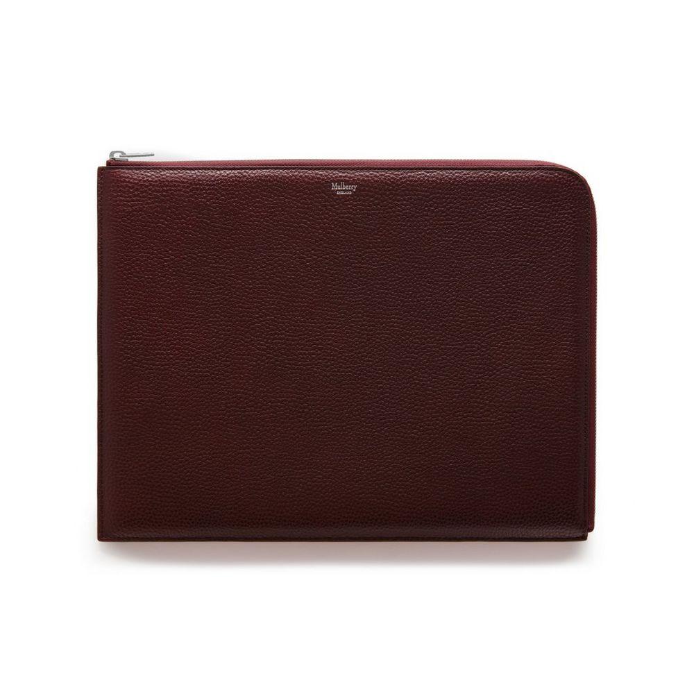 c6d5c69d83 Large Tech Pouch | Black Small Classic Grain | Women | Mulberry
