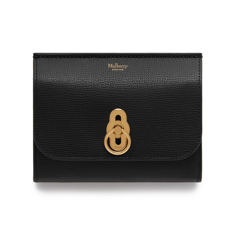 Amberley Medium Wallet Black Cross Grain Leather 29ed6d6984f30