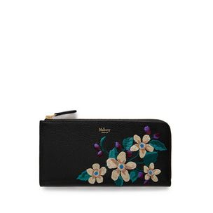 long-part-zip-wallet-black-flower-embroidery-small-classic-grain