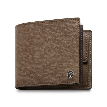 aeb539f2cc4 8 Card Coin Wallet Tree Plaque | Clay Cross Grain Leather | Men | Mulberry