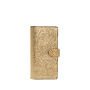iphone-flip-case-gold-metallic-printed-goat