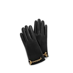 bar-and-chain-glove-black-cross-grain-leather
