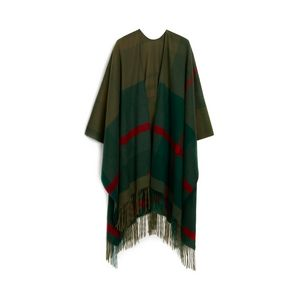 large-check-poncho-grass-green-lambswool