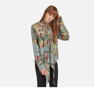 adelaide-blouse-castle-blue-floral-animal-shiny-silk