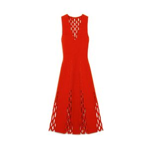 agnes-fluted-dress-bright-orange-felted-fishnet