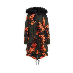 grace-parka-khaki-bright-orange-rose-jacquard