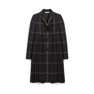 amy-pleated-coat-navy-water-repellent-check-fabric