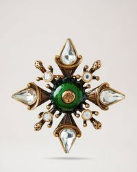 military-flower-brooch