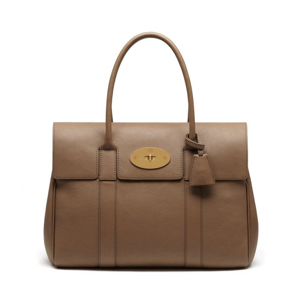 Bayswater in dark beige small classic grain women mulberry for The bayswater