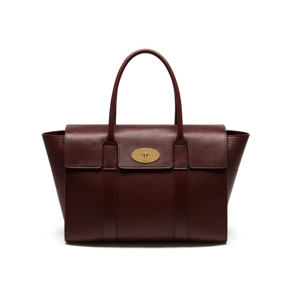 Bayswater oxblood natural grain leather women mulberry for The bayswater