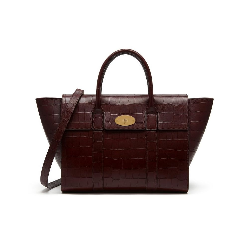 1aa28977fd Bayswater With Strap Oxblood Deep Embossed Croc Print Family