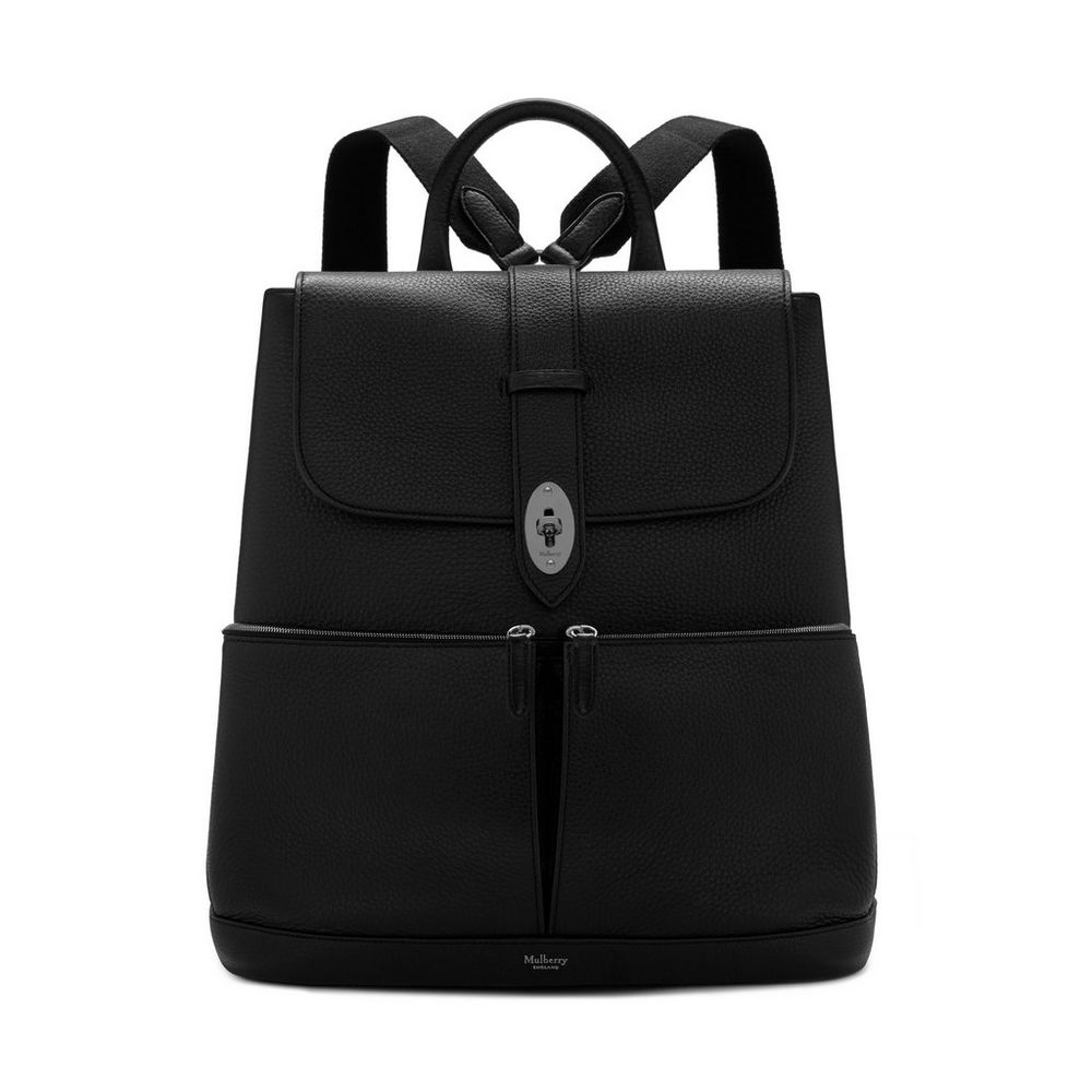 60c210b72211 Reston Backpack Black Calfskin