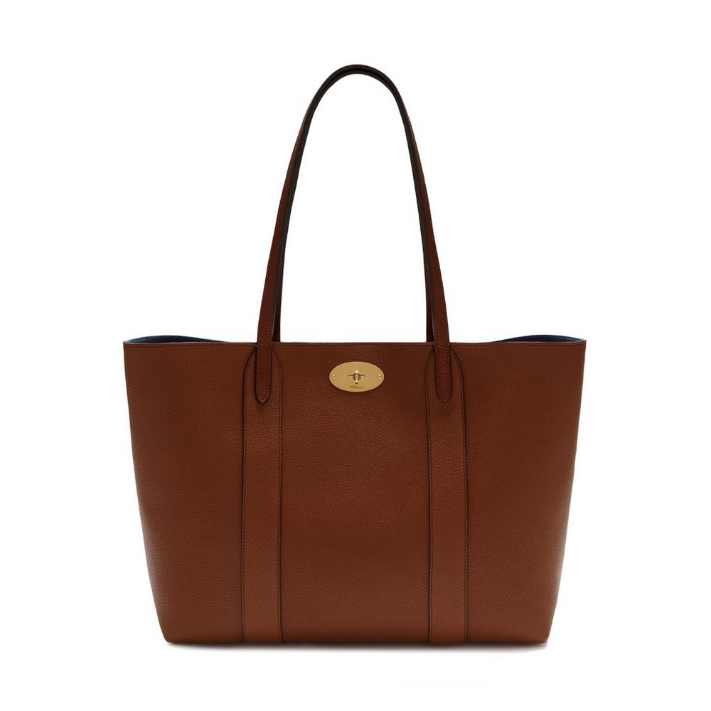 bayswater tote oak small classic grain women mulberry