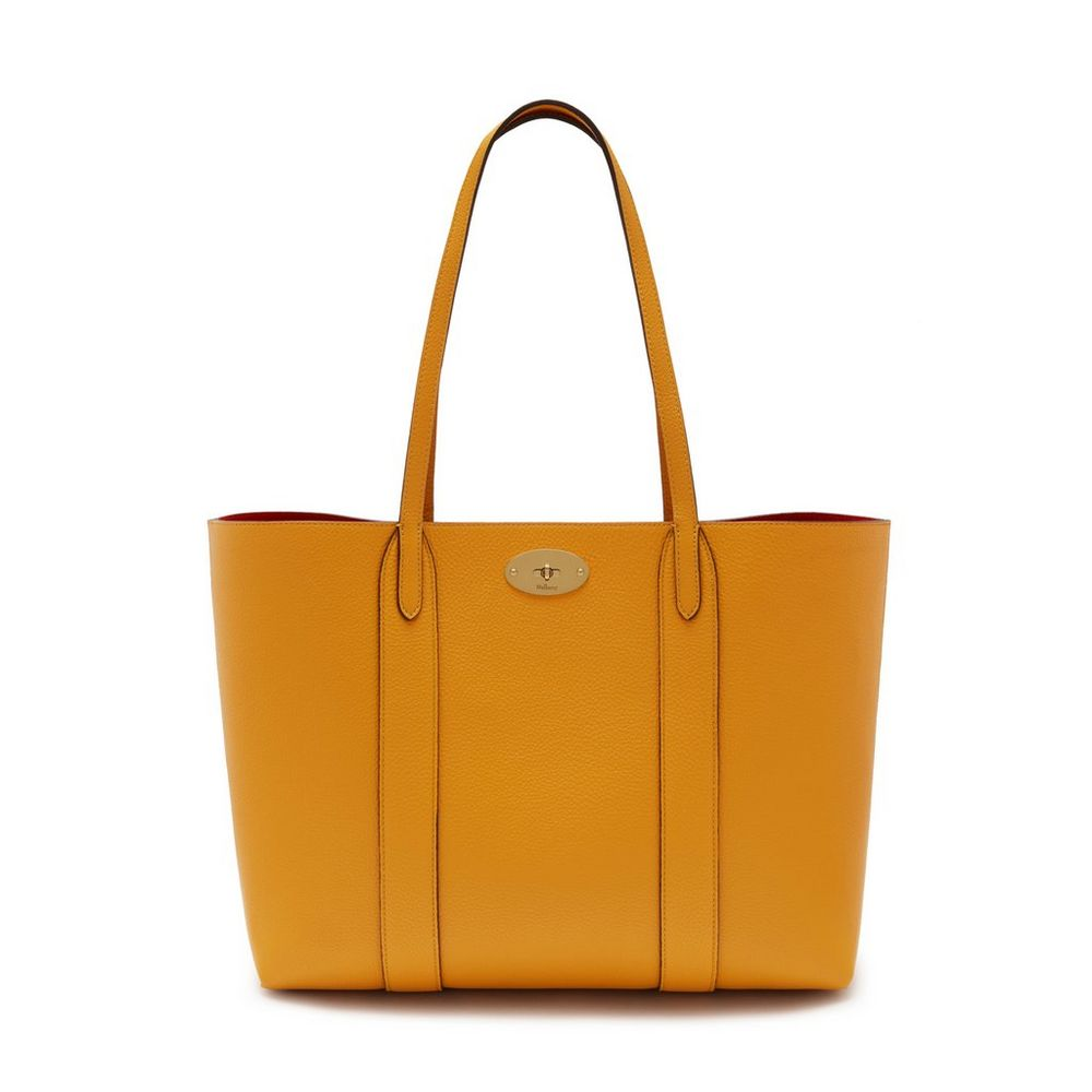 bayswater tote deep amber small classic grain women