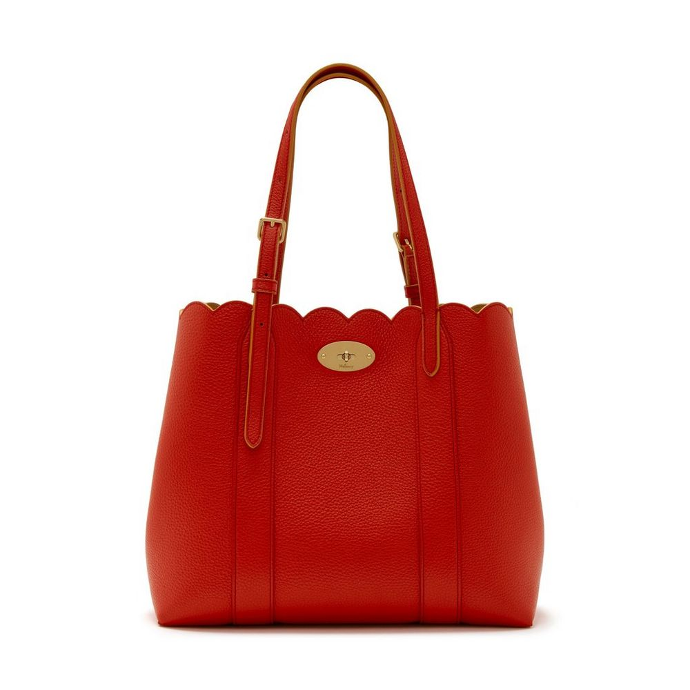 small bayswater tote hibiscus red small classic grain