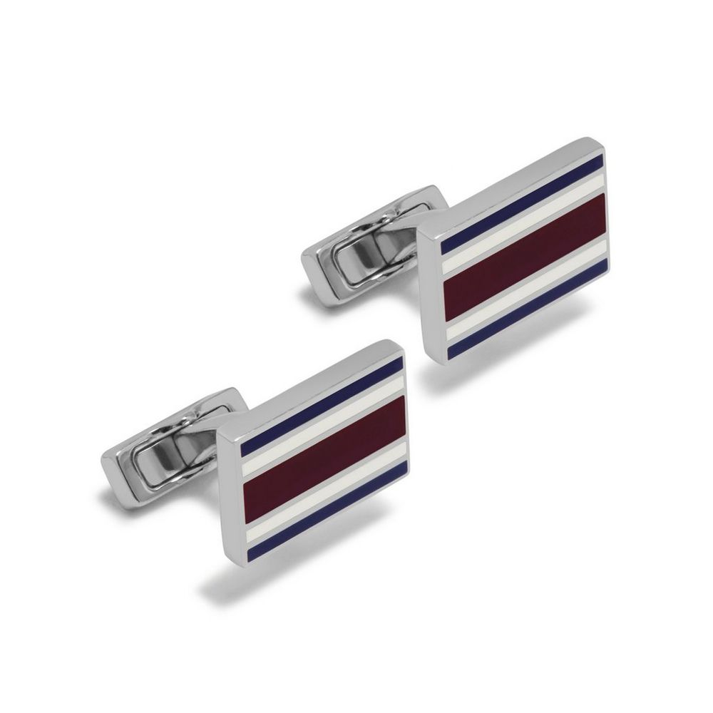 rectangular-college-stripe-cufflinks