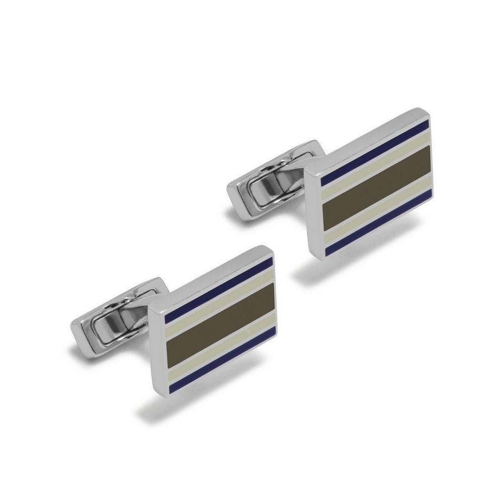 rectangular-college-stripe-cufflinks
