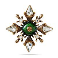 military-flower-brooch