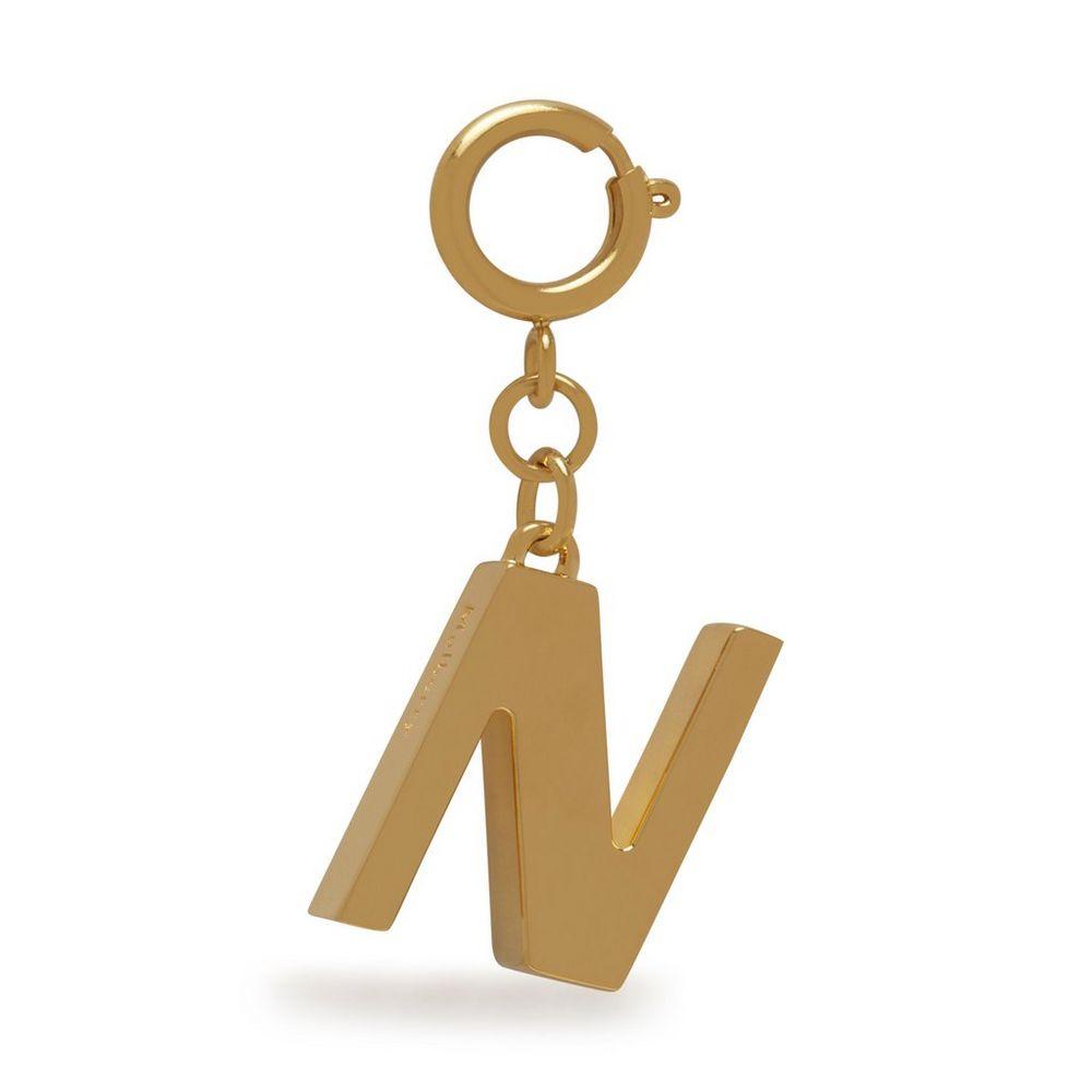 alphabet-brass-keyring---n
