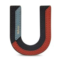 tri-colour-leather-sticker---u