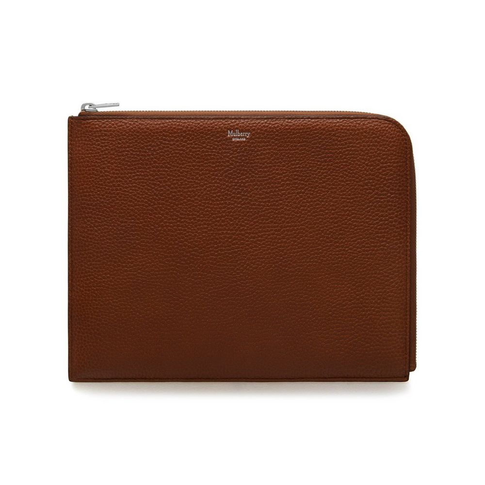 best loved superior quality utterly stylish Tech Pouch   Oak Natural Grain Leather   Go Graphic   Mulberry
