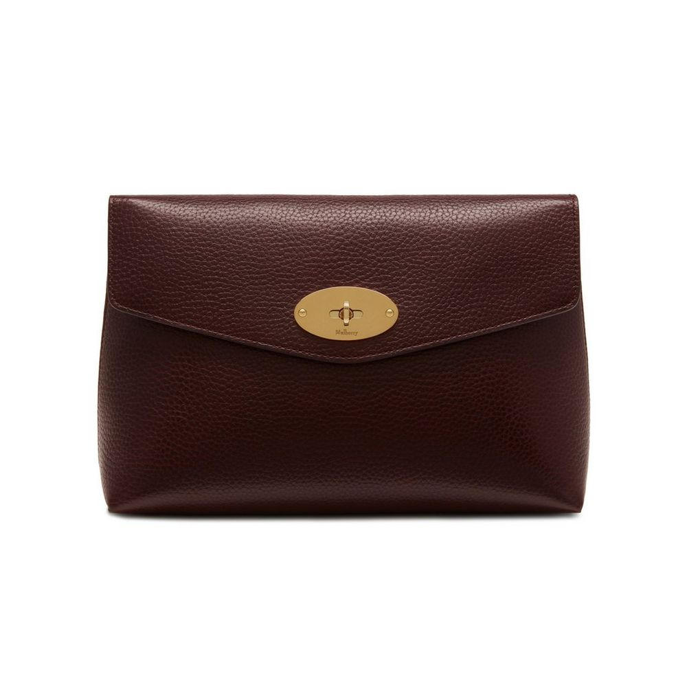 Large Darley Cosmetic Pouch Oxblood Natural Grain Leather a5712a57fffc4
