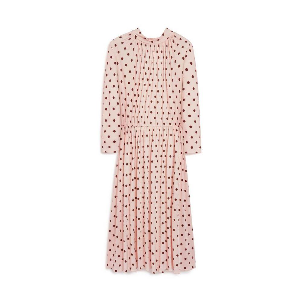 4bdb41c9a29 Lianne Dress   Light Pink Polka Dot Fluid Jersey   The Runaway Muse ...